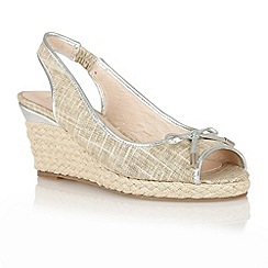Lotus - Natural 'Rila' wedge sandals