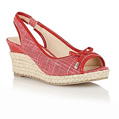 Lotus - Red 'Rila' wedge sandals