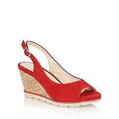 Lotus - Red 'Maron' open toe sling-back sandals