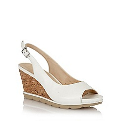 Lotus - Lotus white 'Maron' wedge sandals