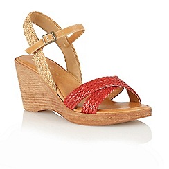 Lotus - Red 'Ferrar' open toe sandals