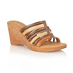 Lotus - Brown multi 'Venice' open toe sandals