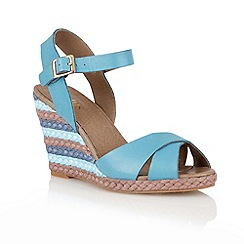 Lotus - Blue 'Sheon' wedge sandals