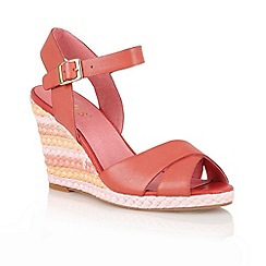 Lotus - Red 'Sheon' wedge sandals