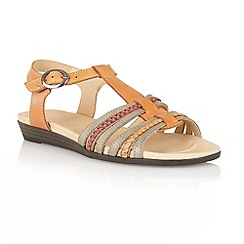 Lotus - Tan multi 'Nerissa' open toe sandals