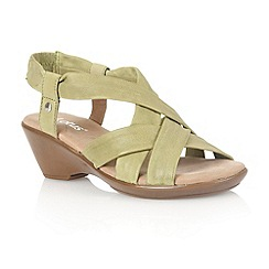 Lotus - Burnished lime 'Nina' ope toe sandals