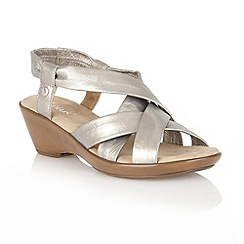 Lotus - Pewter 'Nina' ope toe sandals