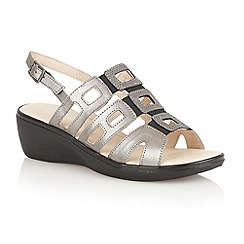 Lotus - Pewter 'Lamar' ladies open toe sandals