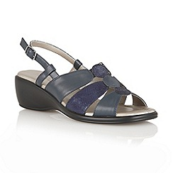 Lotus - Navy 'Atlanta' open toe sandals
