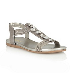 Lotus - Pewter metallic 'Myrtill' open toe sandals