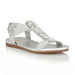 Lotus - Silver metallic 'Myrtill' open toe sandals