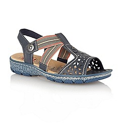 Lotus - Navy 'Maresmo' casual open toe sandals