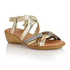 Lotus - Metallic multi leather 'Luxa' open toe sandals