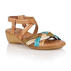 Lotus - Natural multi leather 'Luxa' open toe sandals