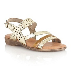 Lotus - Metallic multi leather 'Palma' open toe sandals