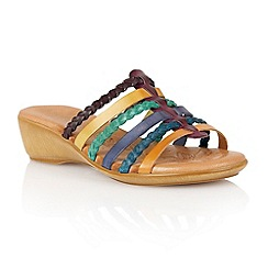 Lotus - Purple multi leather 'Castello' open toe sandals