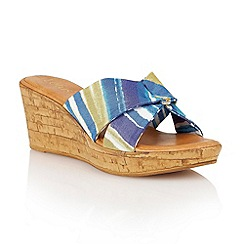 Lotus - Blue multi 'Luisa' wedge sandals
