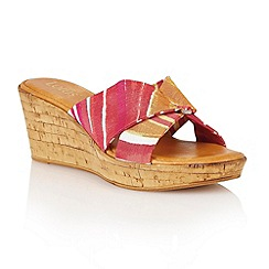 Lotus - Fuchsia multi 'Luisa' wedge sandals