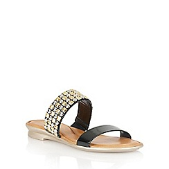 Lotus - Black 'Cossima' open toe sandals