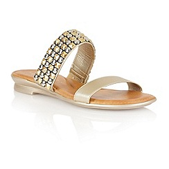 Lotus - Gold 'Cosima' open toe sandals