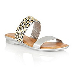 Lotus - Silver 'Cosima' open toe sandals