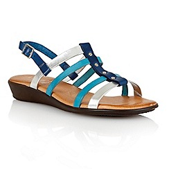 Lotus - Blue multi leather 'Lucca' open toe sandals