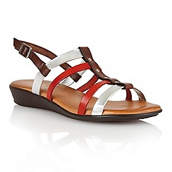 Lotus - Brown multi leather 'Lucca' open toe sandals
