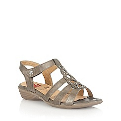 Lotus - Light bronze 'Rhona' strappy sandals