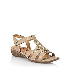 Lotus - Natural 'Rhona' strappy sandals