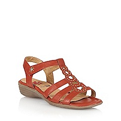 Lotus - Red 'Rhona' strappy sandals