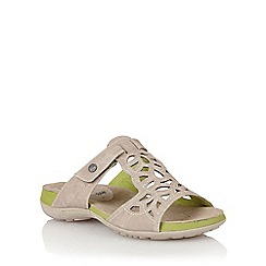 Lotus - Beige lazer 'Minea' open toe sandals
