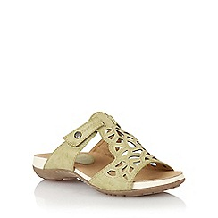 Lotus - Green lazer 'Minea' open toe sandals