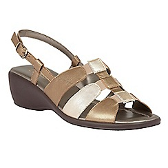 Lotus - Bronze 'Lantic' wedge sandals