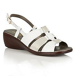 Lotus - White 'Lantic' wedge sandals