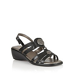 Lotus - Black leather 'Berty' open toe sandals