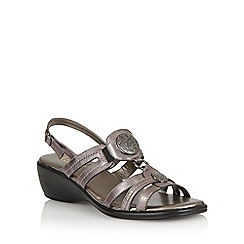 Lotus - Pewter leather 'Berty' open toe sandals