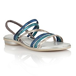 Lotus - Blue multi 'Tropica' open toe sandals
