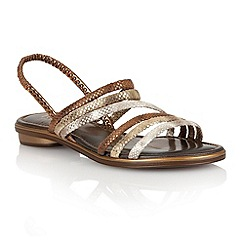Lotus - Metallic multi 'Tropica' open toe sandals