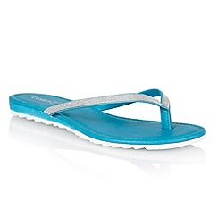 Lotus - Blue glitter 'Los' toe post sandals