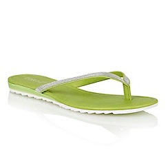 Lotus - Green glitter 'Los' toe post sandals