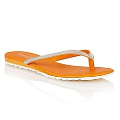 Lotus - Orange glitter 'Los' toe post sandals