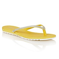 Lotus - Yellow glitter 'Los' toe post sandals