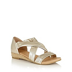 Lotus - Gold leather 'Arielle' strappy sandals