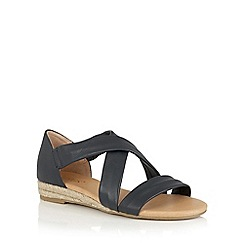 Lotus - Navy leather 'Arielle' strappy sandals