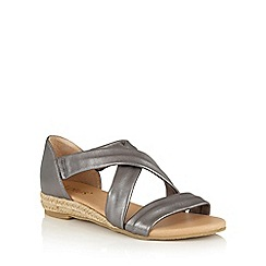 Lotus - Pewter leather 'Arielle' strappy sandals