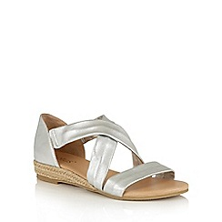 Lotus - Silver leather 'Arielle' strappy sandals