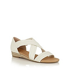 Lotus - White leather 'Arielle' strappy sandals
