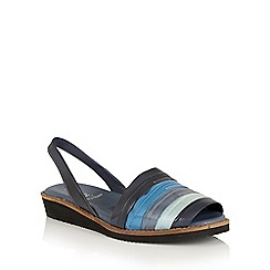 Lotus - Blue multi 'Aaliyah' sling back sandals
