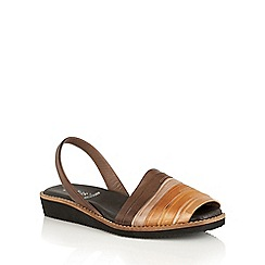 Lotus - Tan multi 'Aaliyah' sling back sandals