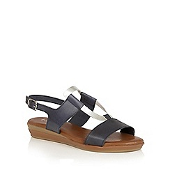 Lotus - Blue silver 'Luxmore' open toe sandals